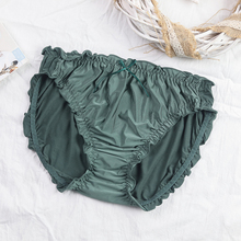 内裤女大码胖mm200斤ha9腰女士透ie缝莫代尔舒适薄款三角裤