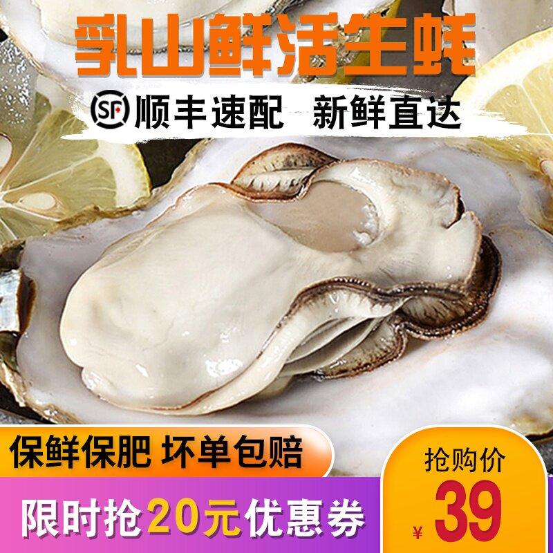 绿渡 乳山生蚝鲜活10斤一箱新鲜肉肥特大牡蛎5斤装即食带壳海蛎子