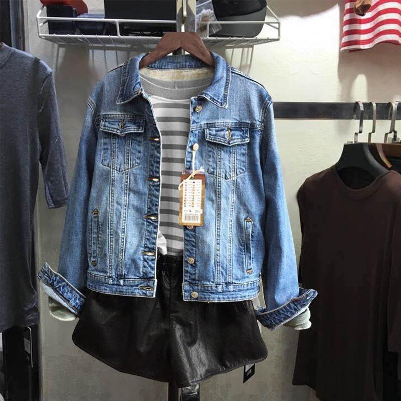 DUODUOYU32292018秋装新款女装上衣韩版牛仔短外套休闲装