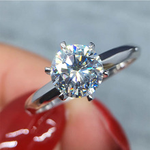 Hantini real gold classic six claw Moissanite ring engagement jewelry inlay customization