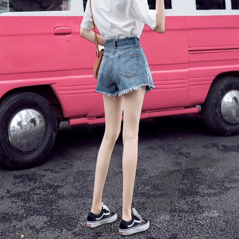 2019新款牛仔短裤女夏季外穿宽松潮a字韩版破洞高腰显瘦阔腿热裤