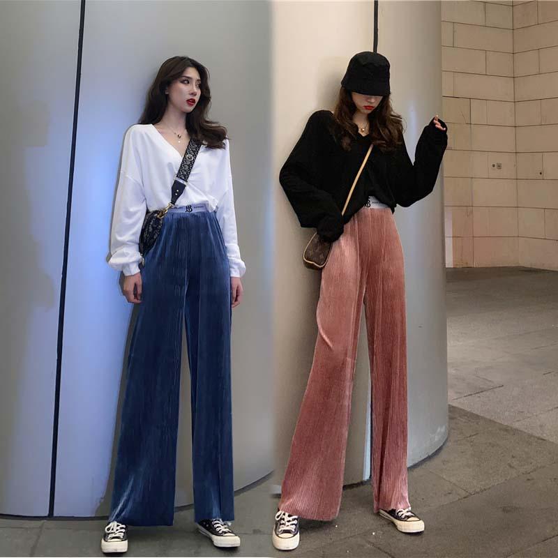 秋季闺蜜套装2019年秋季卫衣阔腿裤网红法式赫本学生轻熟风两件套