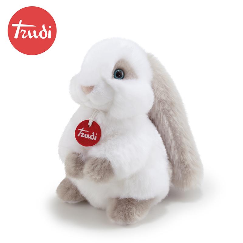 意大利trudi白月光兔子毛绒玩具小白兔公仔可爱玩偶女孩礼物娃娃
