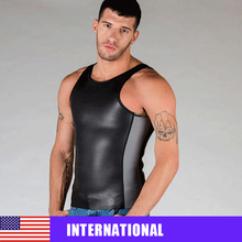 American rubber vest SM props fun host jacket role play clothes neoprene tank