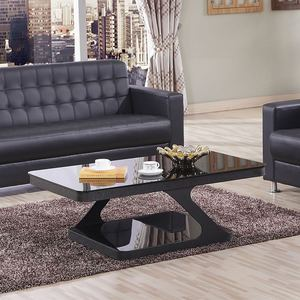 Simple and modern tempered glass coffee table living room reception office personality furniture combination