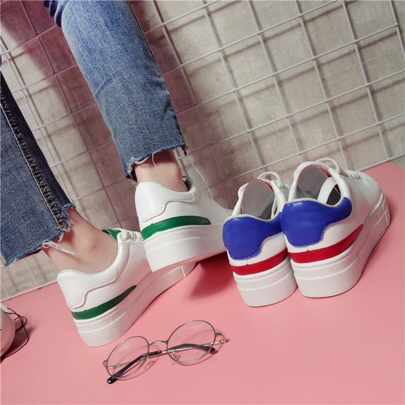 2017秋季新款厚底小白鞋女百搭休閑白鞋子板鞋學生韓版女鞋帆布鞋