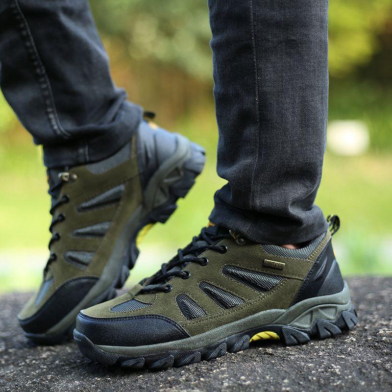 冬季鞋子男户外冲锋鞋高帮运动鞋大码45徒步鞋旅游登山鞋男休闲鞋
