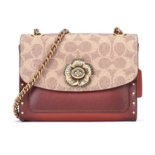 COACH/ Cox, rivet PARKER18 Camellia series shoulder bag 30592