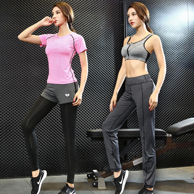 运动健身瑜伽服套装女秋冬新款速干宽松显瘦健身房跑步衣三四件套