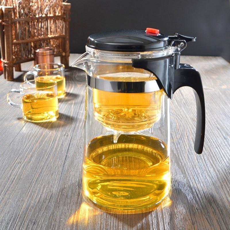 飘逸杯玻璃茶壶耐高温泡茶器耐热全拆洗玲珑杯养生壶过滤内胆茶具