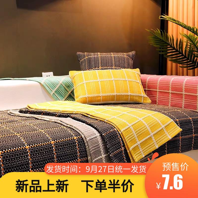 秋冬新品棉麻沙发垫北欧布艺防滑坐垫四季通用老粗布亚麻沙发巾