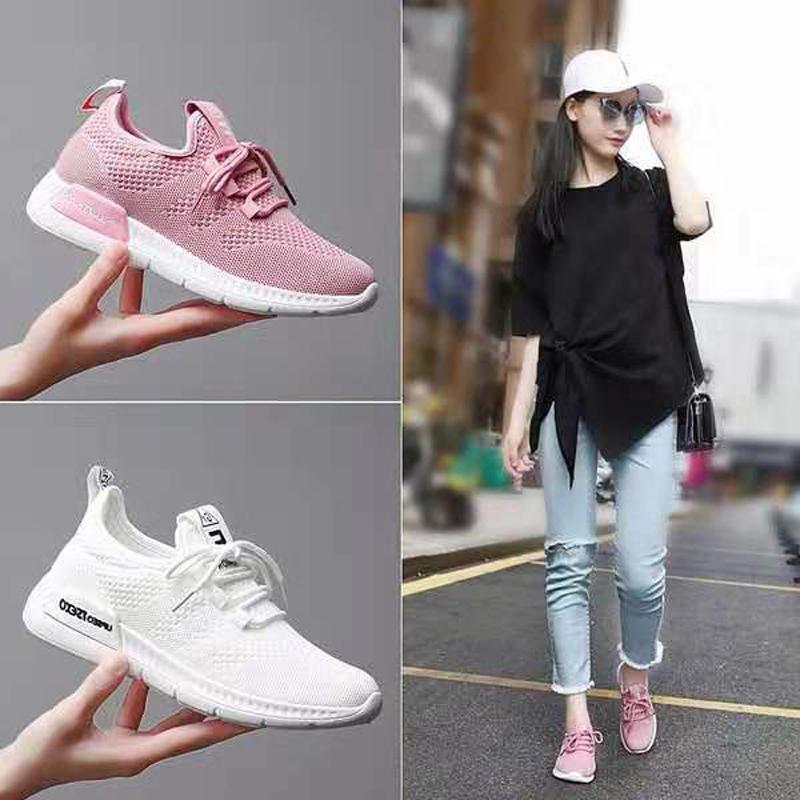 飞织运动鞋女鞋春夏季新款韩版休闲鞋小白鞋女单鞋网面透气跑步鞋