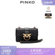 PINKO羊皮绗缝迷你飞鸟包燕子包1P21TLY6KT