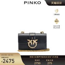 PINKO2021秋冬新款女包单肩斜挎经典小号飞鸟包燕子包1P22AAY6XT