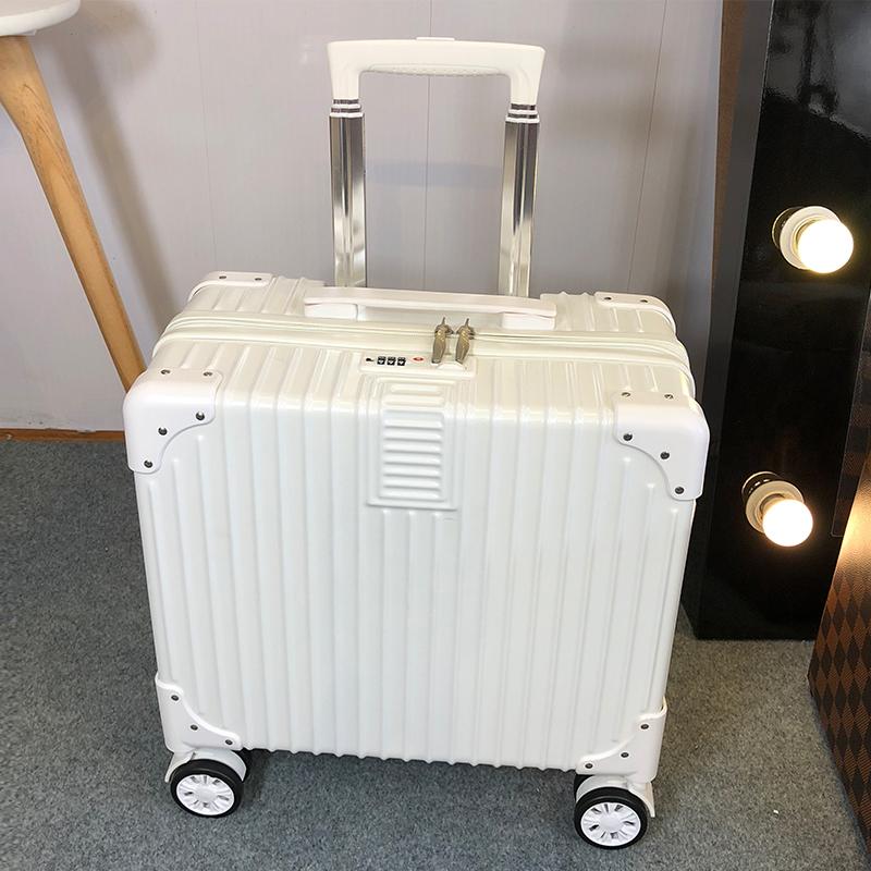 18寸行李箱小型登机拉杆箱子旅行男女密码包迷你20网红ins小号皮