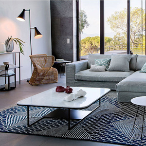Nordic multifunctional storage coffee table living room furniture simple marble tea table office leisure bar personality small square table