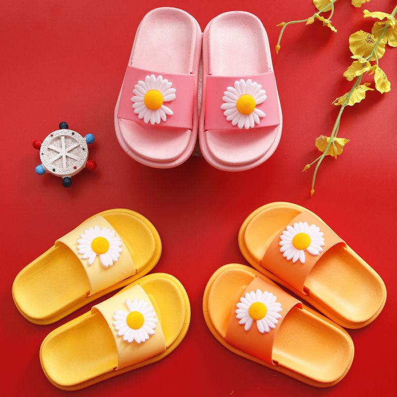 【立体图案】新款小雏菊笑脸儿童拖鞋女夏防滑外穿时尚网红小公主