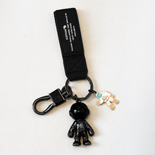 太空机器的jr2意汽车钥gc挂件男女高档情侣礼品钥匙链圈饰品