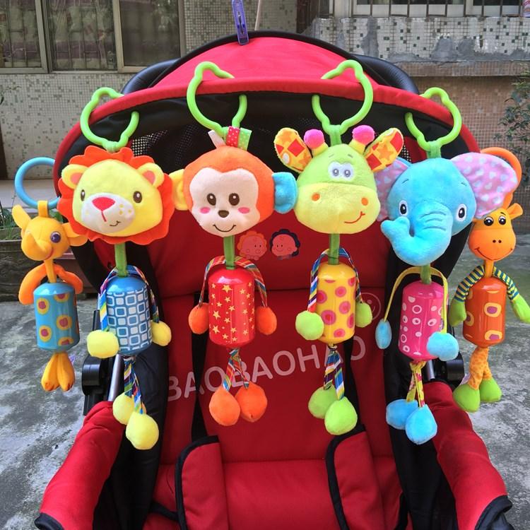 男孩宝宝婴儿推车挂件玩具挂铃安抚小孩女孩益