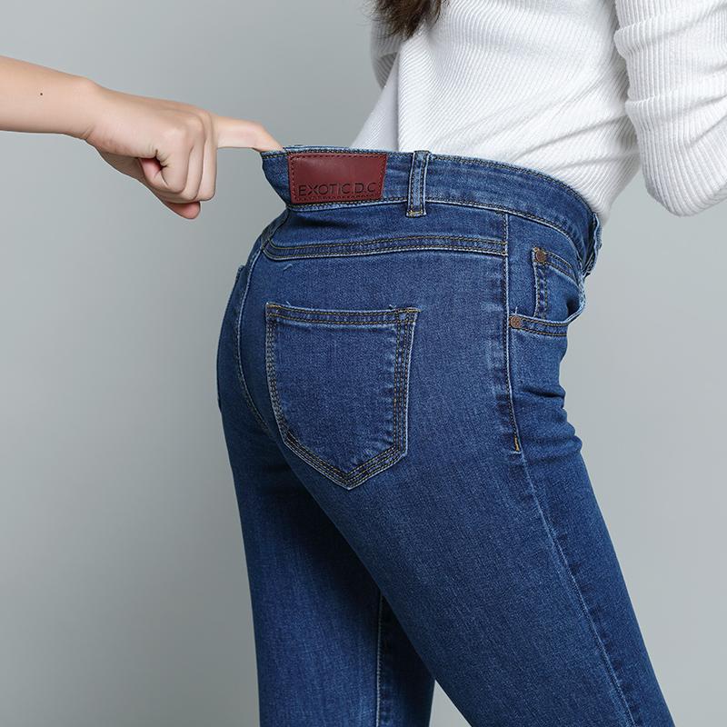 2017新款冬牛仔裤女显瘦百搭高腰弹力小脚铅笔裤修身加绒加厚裤子