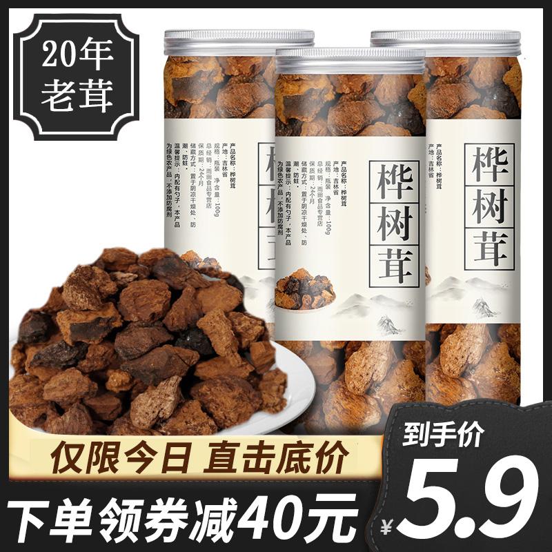 桦树茸野生白桦茸长白山非俄罗斯特级桦褐孔菌茶包正品30g