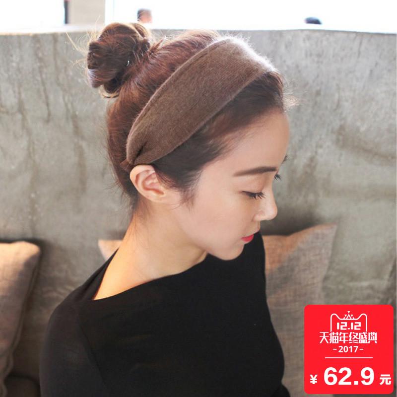 日韩国简约甜美毛线针织头箍韩版式淑女百搭成人宽边压发箍发卡饰