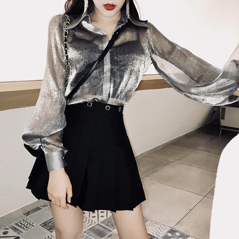 大码百褶裙ins超火的半身裙女胖mm高腰2018秋冬新款a字裙chic短裙