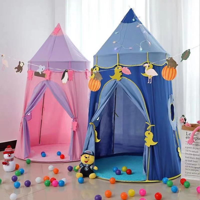 儿童帐篷游戏屋睡觉婴儿小女孩宝宝公主城堡帐篷蒙古包玩具屋室内