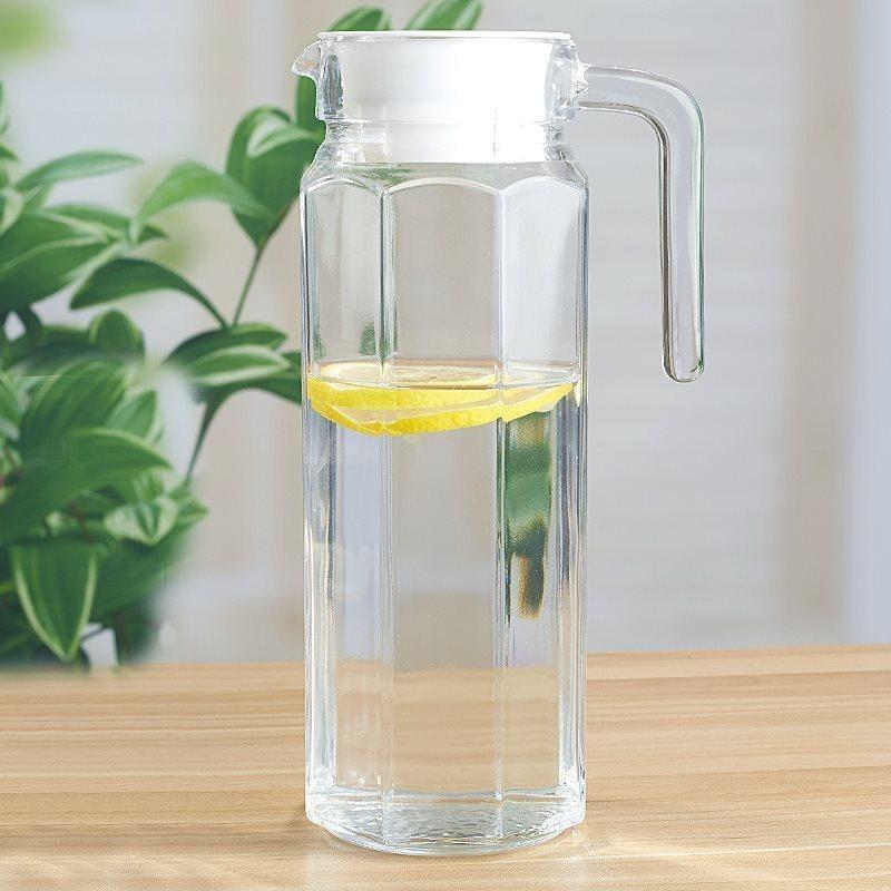 1L大容量开水瓶玻璃盛水壶晾水扎杯凉水杯冷水壶