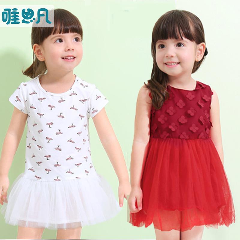 特卖 思凡 童装 夏季 小童 可爱 甜美 夏日 清凉 连衣裙