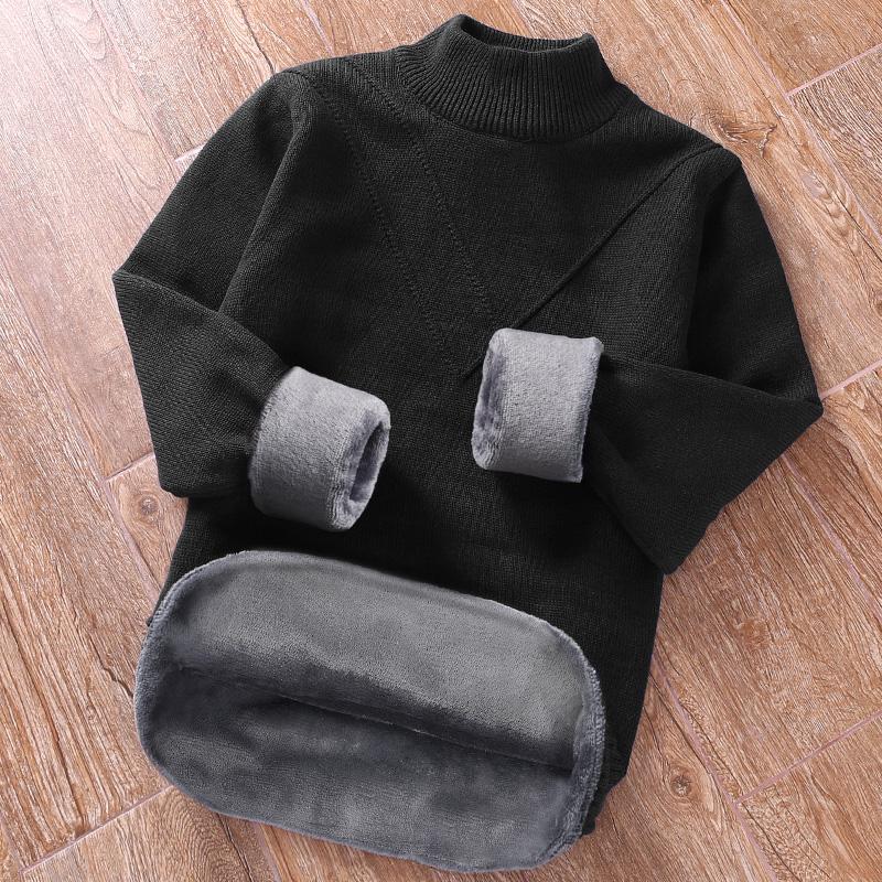 半高领毛衣男士秋冬季保暖加绒加厚韩版潮流厚款个性中领打底衫男