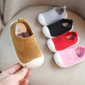 宝宝鞋子婴儿鞋男童学步鞋女防滑软底针织鞋网鞋透气夏小童鞋春秋