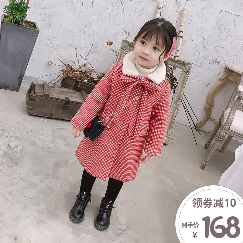 童装女童冬装2018新款洋气加厚呢子大衣宝宝冬季毛呢外套中长上衣