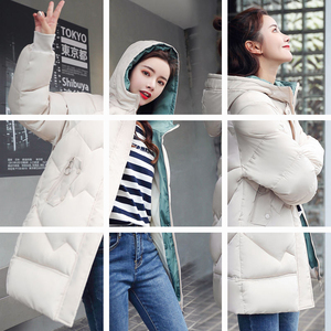 2019 winter new women's thick cotton jacket in the long section of Korean fashion wild cotton jacket coat cotton tide