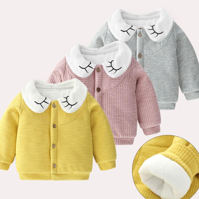 婴儿夹棉外套女秋冬装0一1岁宝宝公主洋气小女童保暖加厚上衣冬季