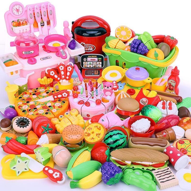 儿童可切水果蔬菜切切乐玩具宝宝切菜蛋糕女孩过家家组合套装男孩