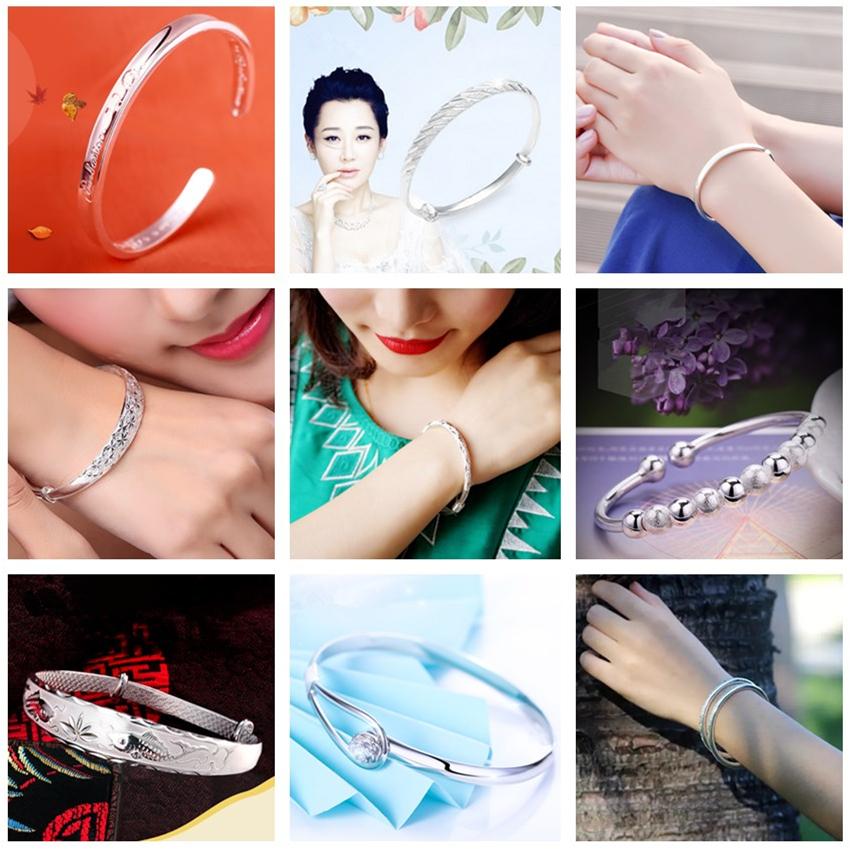 【多款可选喔】新款经典韩版时尚女首饰品满天星玫瑰转运珠银手环