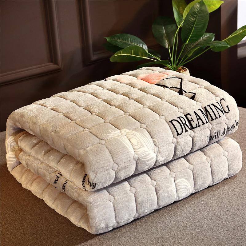 珊瑚绒床垫子冬季加绒加厚保暖法兰绒1.5床褥垫被1.8米毛毛绒床垫