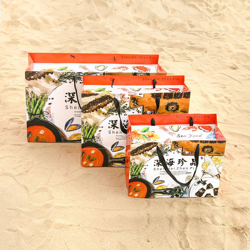 海鲜干货礼品盒大礼包包装盒即食海参通用泡沫箱高档空盒子定制