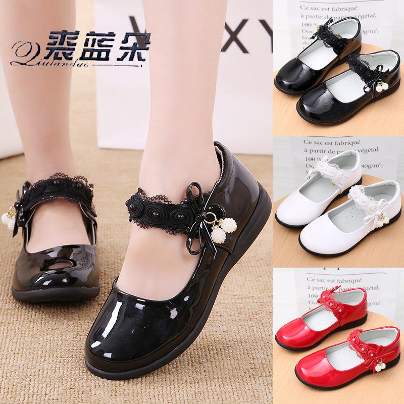 女童皮鞋黑色公主鞋小学生演出韩版软底儿童单鞋春季鞋子2020新款