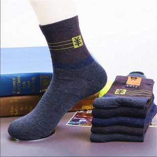 B冬季加厚拼色中筒羊毛袜男士袜子F0321429