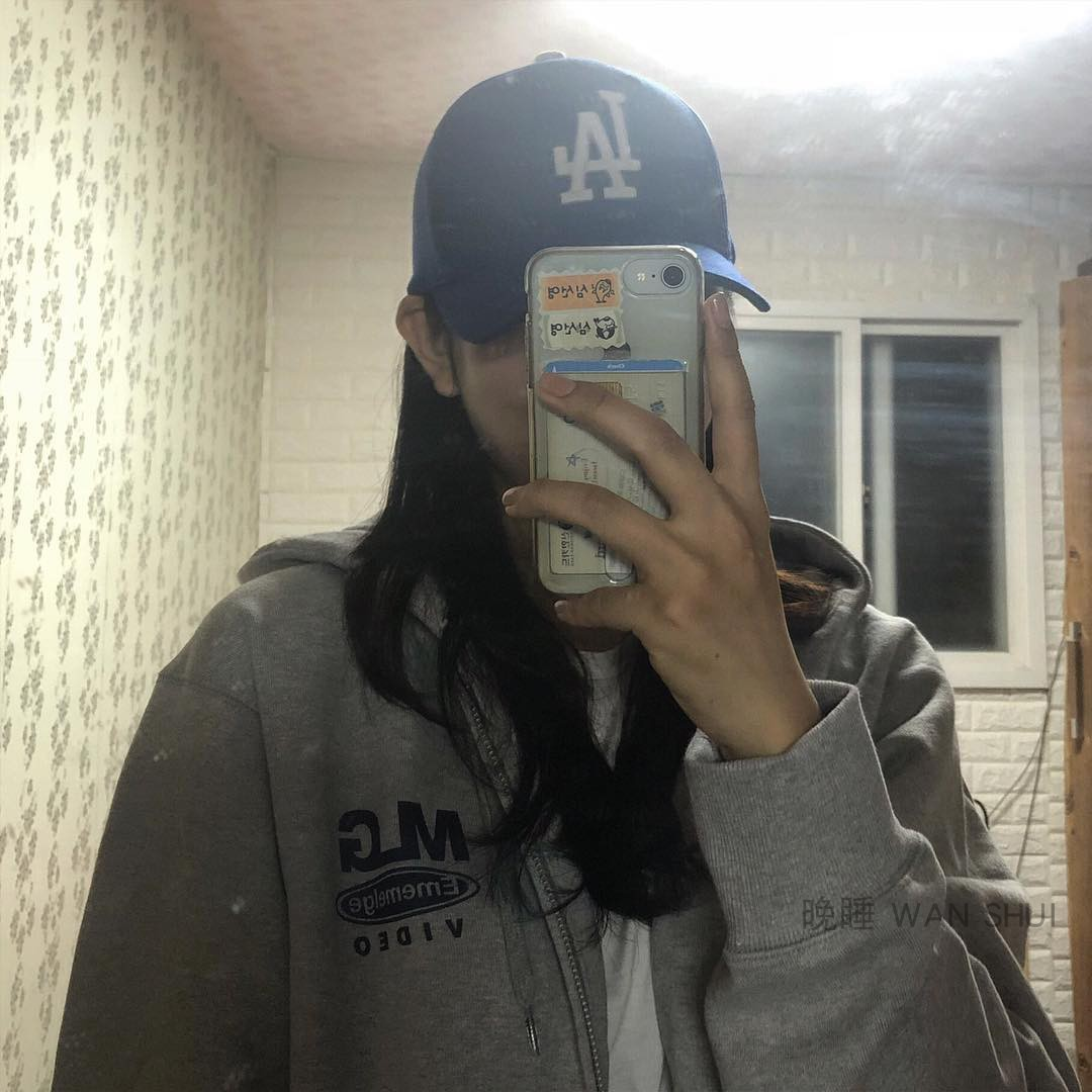 晚睡/韩国ins超火MLG印花宽松长袖连帽加绒拉链开衫连帽卫衣外套