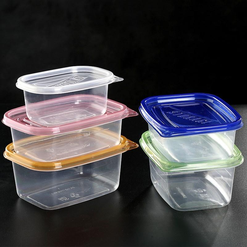 长方形塑料带盖一次性餐盒保鲜外卖盒加厚透明快餐打包饭盒子汤碗