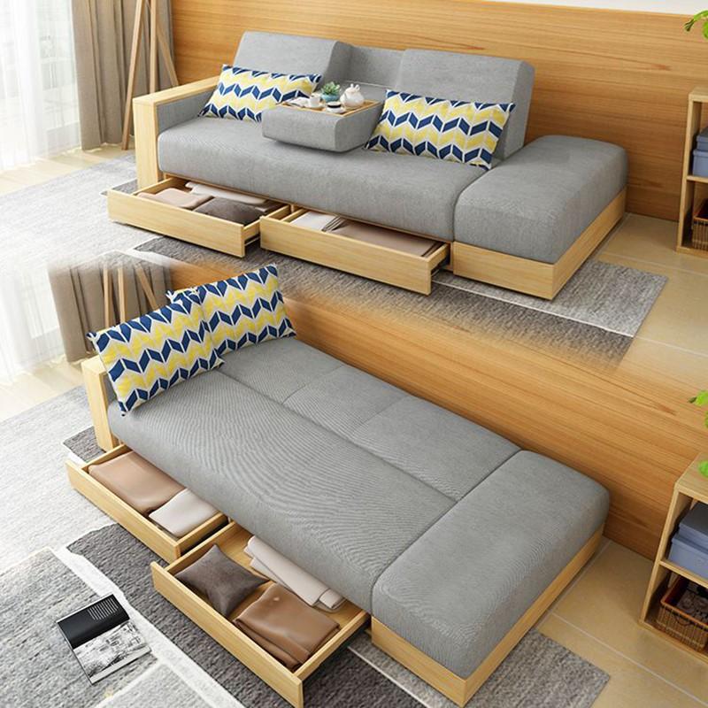 小户型省空间可折叠多功能沙发床坐卧两用带储物收纳客厅单人双人