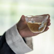 草木祠 水晶玻璃杯冷饮杯果汁杯威士忌酒杯ins风玻璃水杯仙鹤茶杯