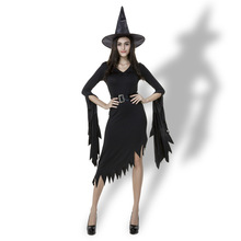 Witch costumes black irregular nun Witch Dress Witch Dress export Halloween Costume