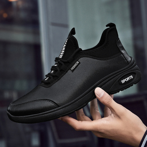 New station autumn wild new British style increased men's shoes black casual business shoes non-slip soles