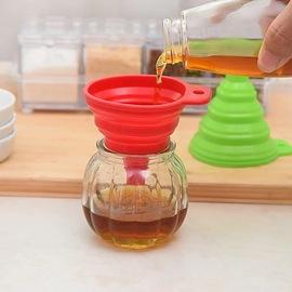 食品级硅胶伸缩漏斗可折叠环保健康液体分装器油漏酒漏