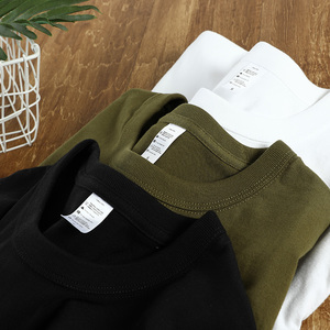 Japan's heavy 270 grams of cotton round neck solid color t-shirt carbon brushed skin-friendly super soft high quality bottoming short sleeve