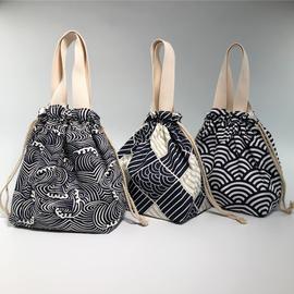 日式可爱饭盒包 便当包袋 水桶包大容量饭盒袋手提手拎学生带饭包